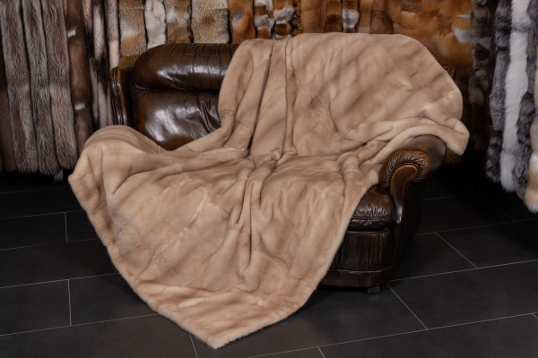 Real Fur Blanket made with Pastel Minks