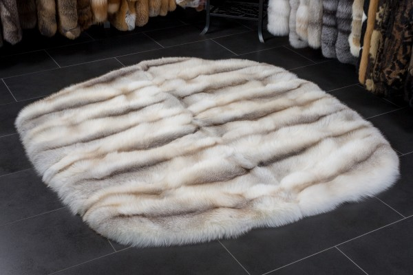 Fawnlight Fox Fur Rug - Round Shape