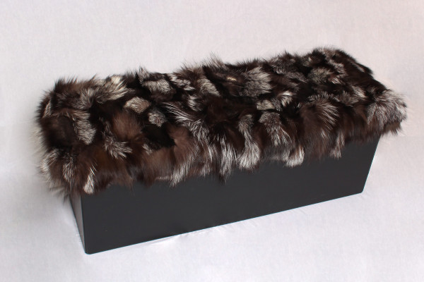 Sitting Chair with Silver Fox Fur Sides