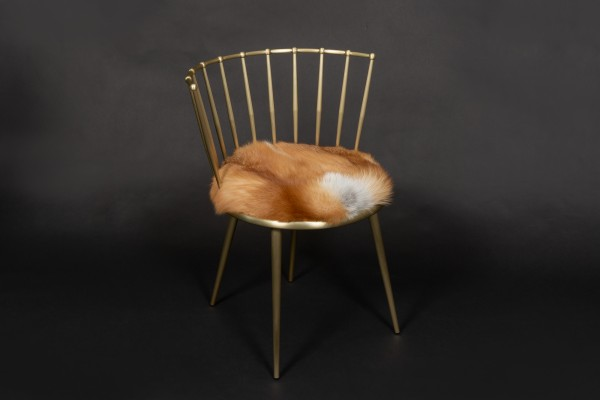 Red Fox Chair with European Foxes