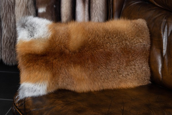 European Red Fox Fur Pillow