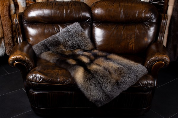 Small Wild Cross Fox Plaid Wild Fur