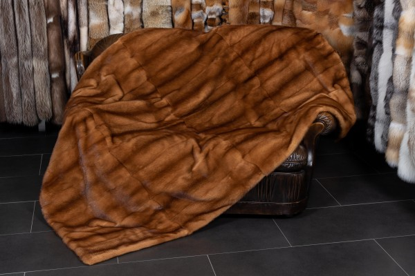 Scanglow Mink Throw - Real Fur