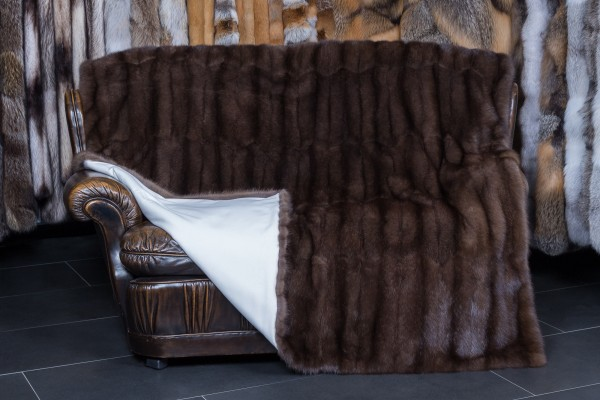 "Russian Sable Fur Blanket ""Titanio"""