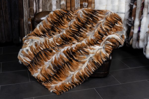 "European Red Fox Fur Throw ""Dark Type"""