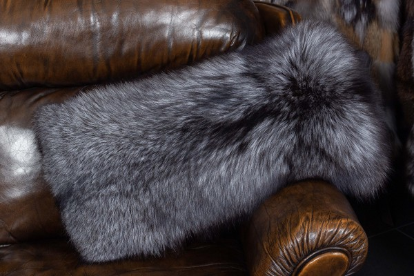 Silver Fox Fur Cushion