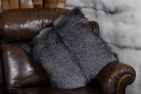 Small Blue Frost Fox Pillow