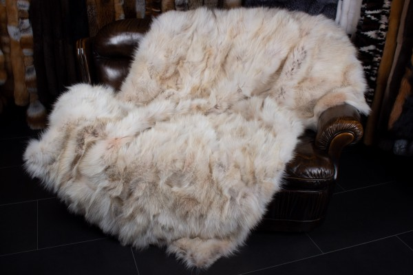 Coyote Sides Fur Throw