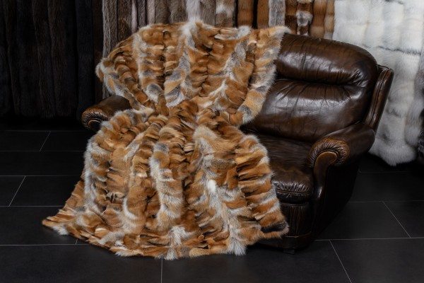 "European Red Fox Fur Blanket ""Light Type"""
