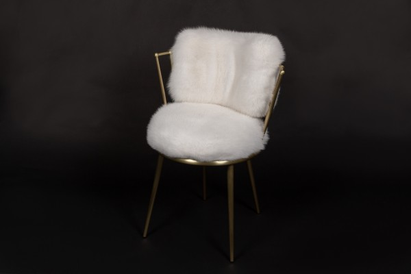 Cantori Chair with Elegant Shadow Fox Fur