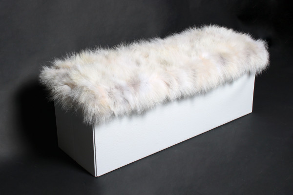 Coyote Fur Sitting Cube with Storage Space