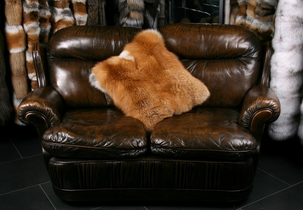 Canadian Red Fox Fur Pillow (Fur Harvesters)