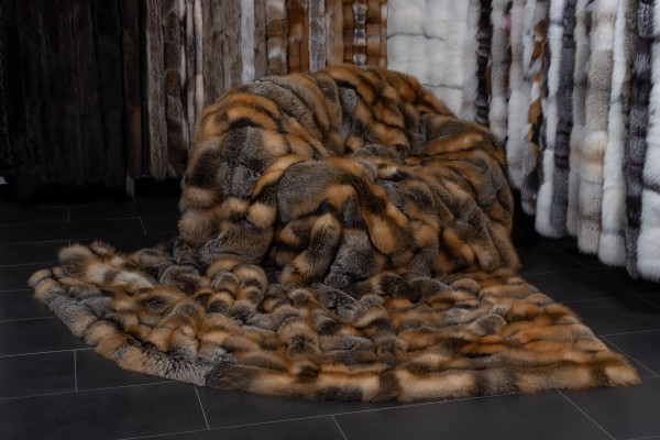 Large Canadian Wild Cross Fox Throw