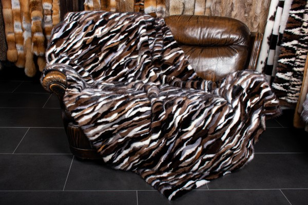 Mink Pieces Fur Blanket - Real Fur