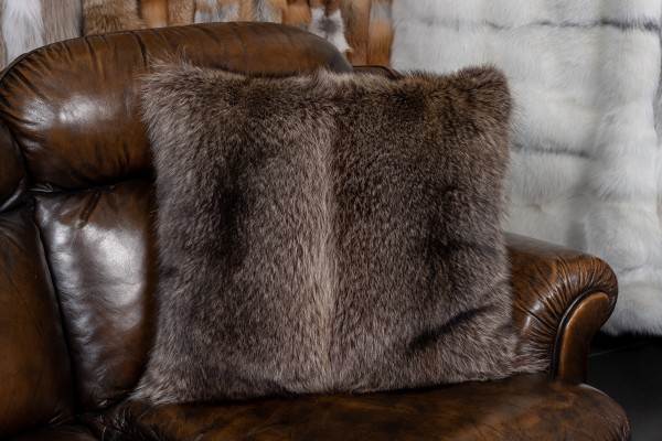 Canadian Raccoon Fur Pillow