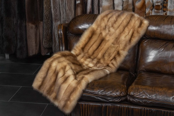 Small Sable Fur Plaid with Gold Sables