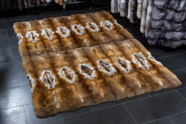 European Red Fox Fur Rug by Lars Paustian