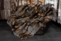 Wild Cross Fox Fur Blanket from Canadian Foxes