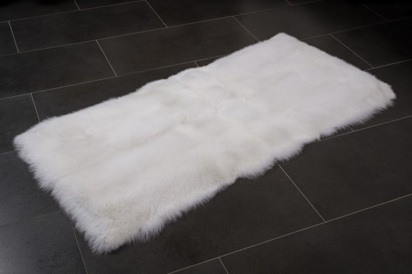 White Fur Runner made with Scandinavian Shadow Fox