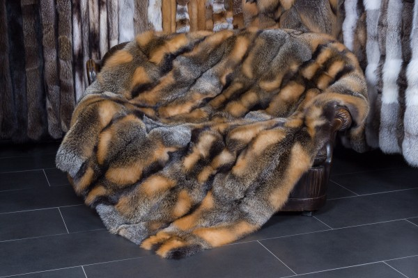 Canadian Wild Cross Fox Throw