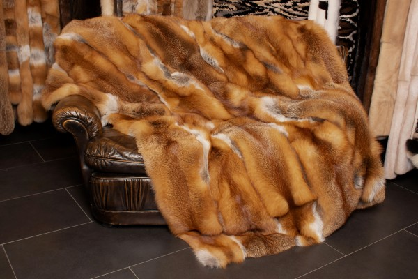 Sofa Blanket made of Canadian Red Fox