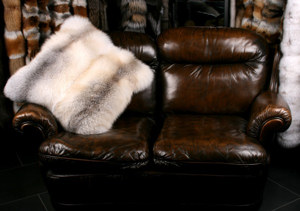 Fawn Light Fox Fur Pillow (SAGA Fur)