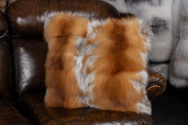 Canadian Red Fox Pieces Fur Cushion