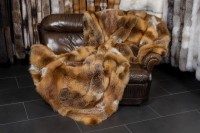 Red Fox Patchwork Fur Blanket