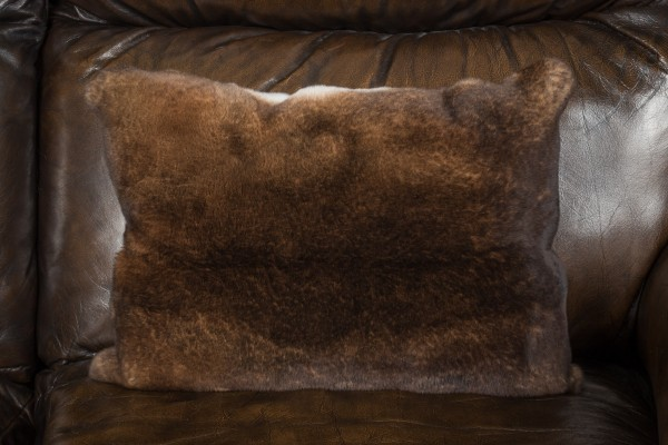 Soft Castor Rex Rabbit Fur Cushion
