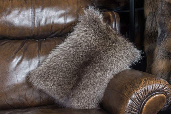 Little Raccoon Fur Pillow