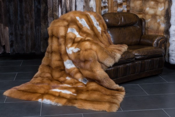 Special Red Fox Fur Blanket - Canadian Red Fox Top Lot 2019
