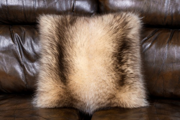 Fur Pillow Canadian Raccoon