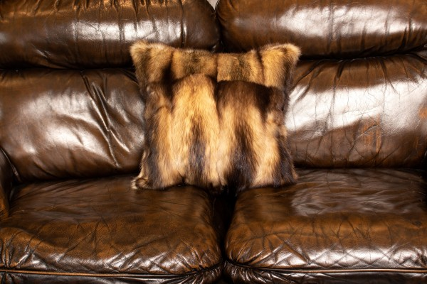 Canadian Fitch Fur Pillow in Creme