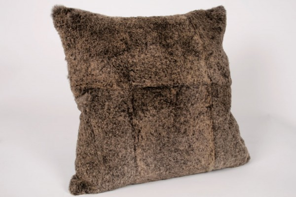 Rabbit Fur Cushion in light brown