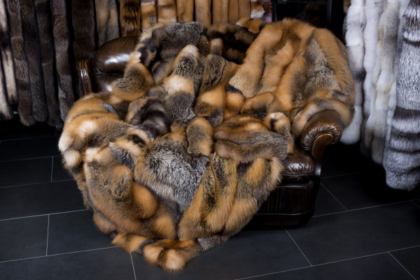 Wild Canadian Fox Blanket