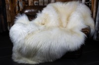 White Sheep Fur Blanket