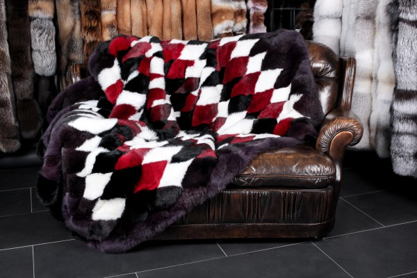Rabbit Fur Blanket multi-colour