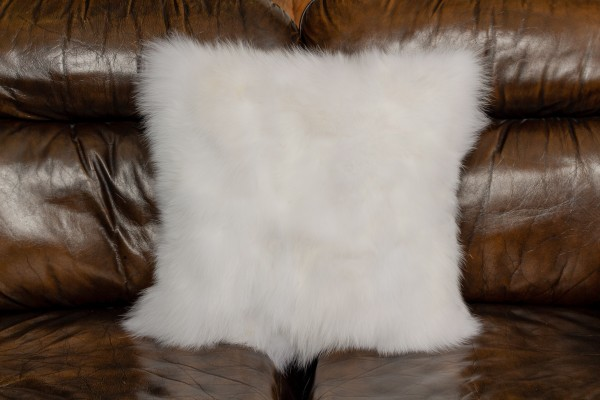 White Shadow Fox Pieces Cushion