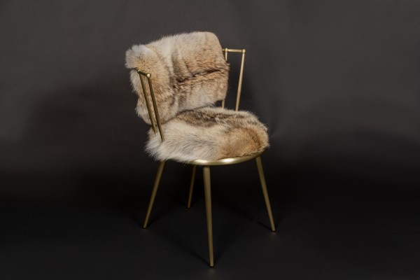Canadian Coyote Fur Chair