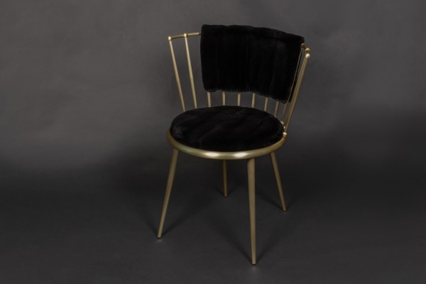Plucked Mink Chair in Black - Cantori