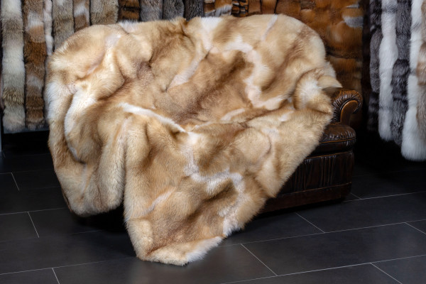 Fur Blanket made with European Red Foxes