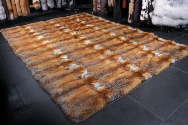 Canadian Red Fox Fur Carpet