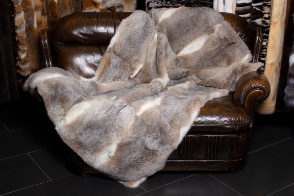 Cuddly Rabbit Fur Throw from Real Skins