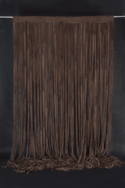 Real Fur Mink Curtains in Brown