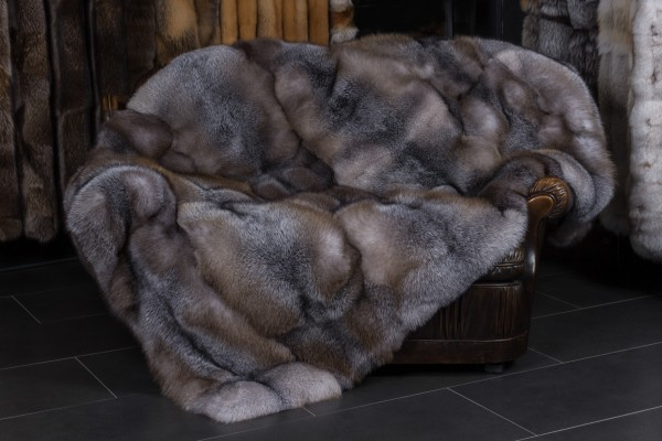 """Blue Frost Fox Throw """"Brown-Type"""""""