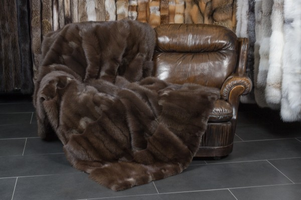 Stone Marten Real Fur Throw