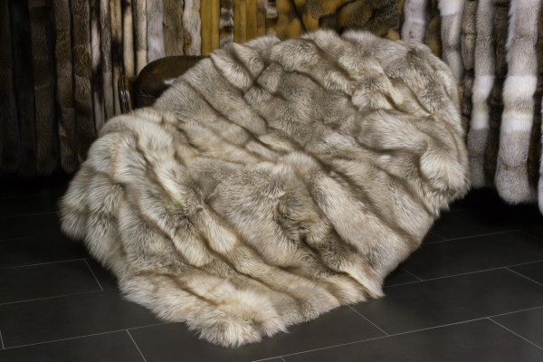 Amber Fox Fur Blanket from SAGA Fur (Scandinavian)