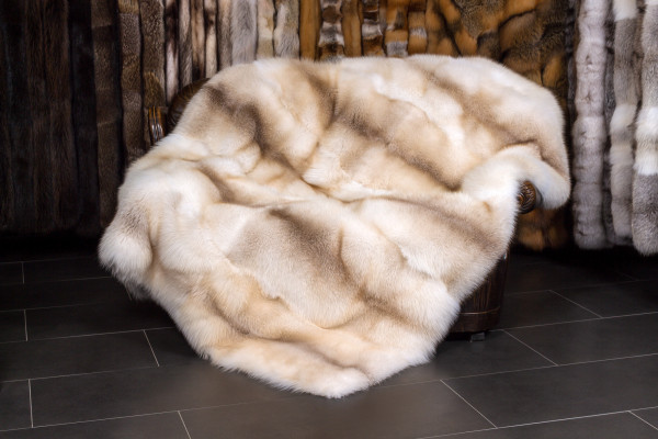 Sun Glo Fox Fur Throw